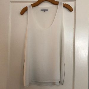 White tank with side zippers